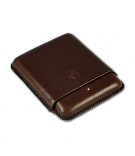 Alfred Dunhills White Spot Bulldog Cigar Case Robusto (4F) - Brown