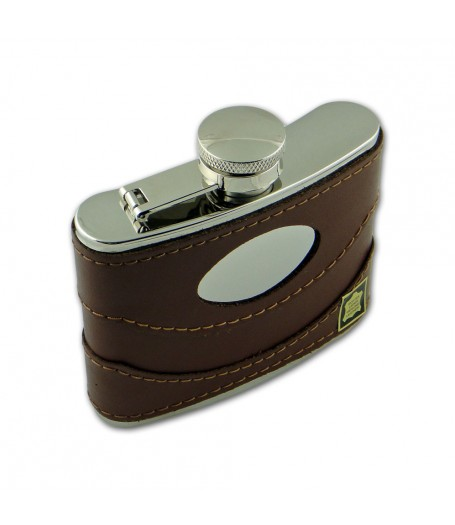 Brown Leather Flask (4oz)