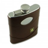 Brown Leather Flask (6oz)
