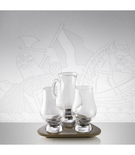 Glencairn Flight Tray Whisky Glass & Water Jug (Gift Carton)
