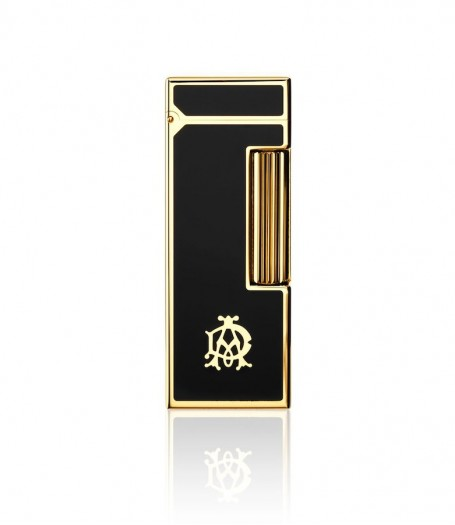 Dunhill Rollagas AD Logo Black Lacquer - Gold