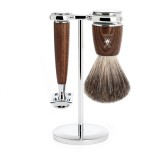 Muhle Rytmo Safety Blade - 3-Piece Shaving Set - Steamed Ash