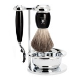 Muhle Vivo Fusion - 4-Piece Shaving Set - Black Resin