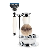 Muhle Sophist Fusion - 4-Piece Shaving Set - White Porcelain